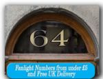 Fanlight Numbers Transom window number for House Gold Leaf grraphics